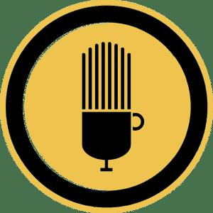 لوگو کافه پادکست ، یک رادیو فارسی از گروه کافه کتاب
